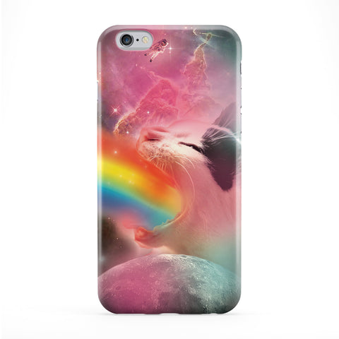 Rainbow Puke Space Cat Phone Case by Tom Pearson
