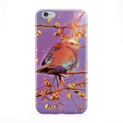 Purple Bird Art Full Wrap Protective Phone Case by Tom Pearson