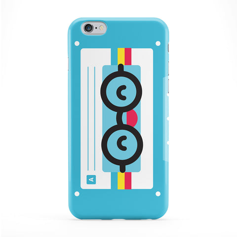 Kawaii_cassette_blue(3d) Full Wrap Protective Phone Case by Tom Pearson