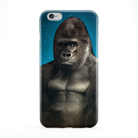 Gorilla And Stars Full Wrap Protective Phone Case by Tom Pearson