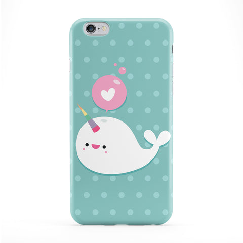 Cute Narwhall Full Wrap Protective Phone Case by Tom Pearson