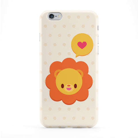 Cute Lion Full Wrap Protective Phone Case by Tom Pearson