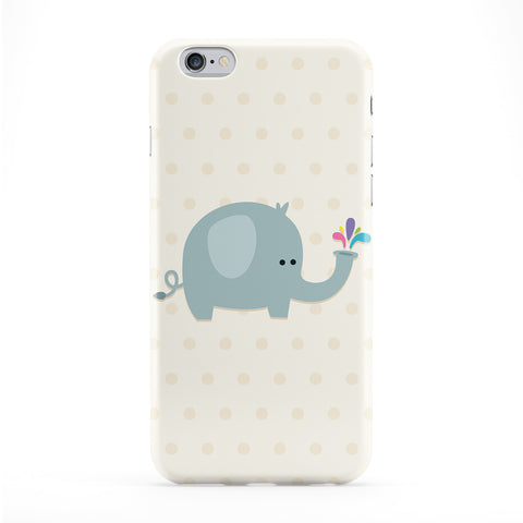 Cute Elephant Full Wrap Protective Phone Case by Tom Pearson