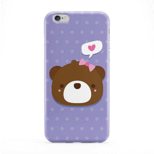 Cute Bear Full Wrap Protective Phone Case by Tom Pearson