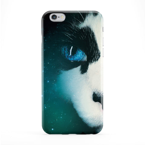 Cat Face Space Full Wrap Protective Phone Case by Tom Pearson