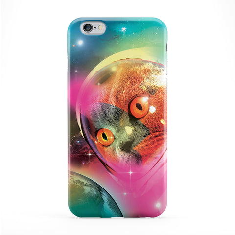 Astronaut cat Full Wrap Protective Phone Case by Tom Pearson