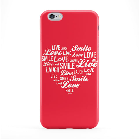Typography Love Heart Red Phone Case by textGuy