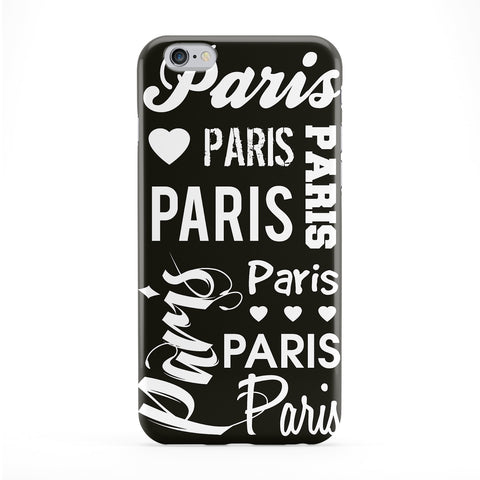 Paris Typography Black Phone Case by textGuy