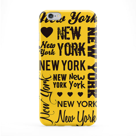 New York Typography Yellow Phone Case by textGuy