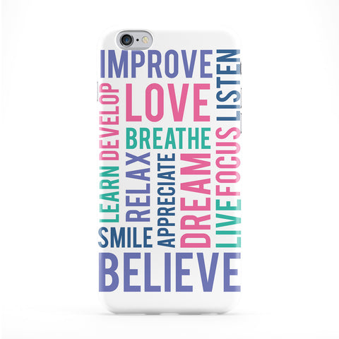 Motivational Words Typography White Phone Case by textGuy