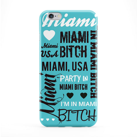 Miami Typography Phone Case by textGuy
