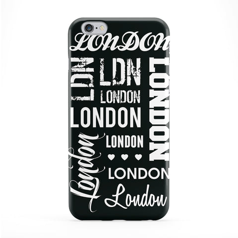 London Typography Black Phone Case by textGuy