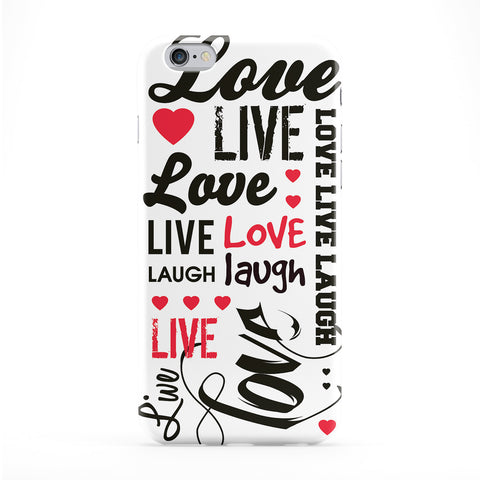 Live Love Laugh Typography White Phone Case by textGuy