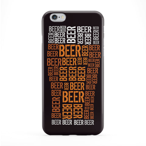 Beer Glass Typography Full Wrap Protective Phone Case by textGuy