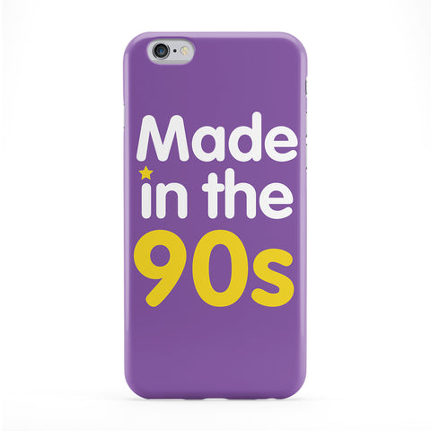 Made in the 90s Purple Full Wrap Protective Phone Case by textGuy