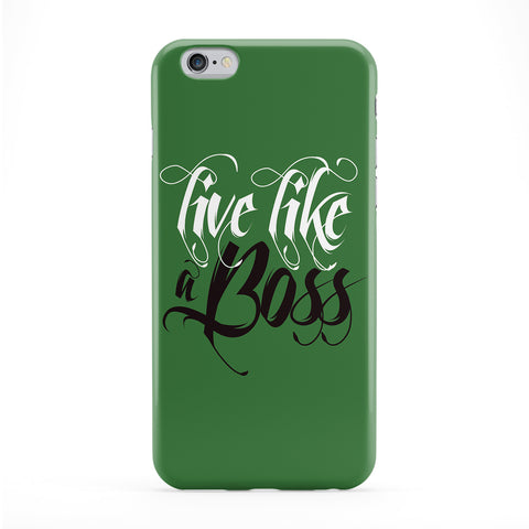 Live Like a Boss Full Wrap Protective Phone Case by textGuy