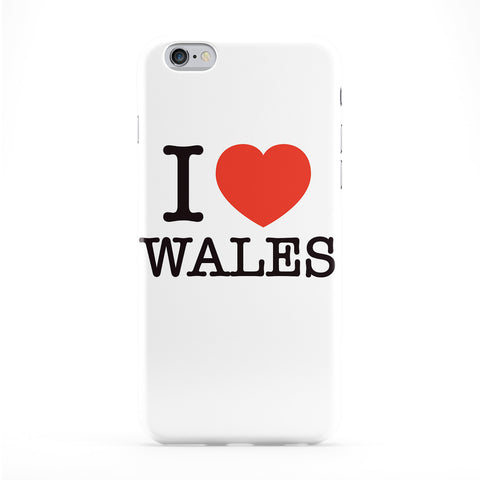 I Love Wales Full Wrap Protective Phone Case by textGuy