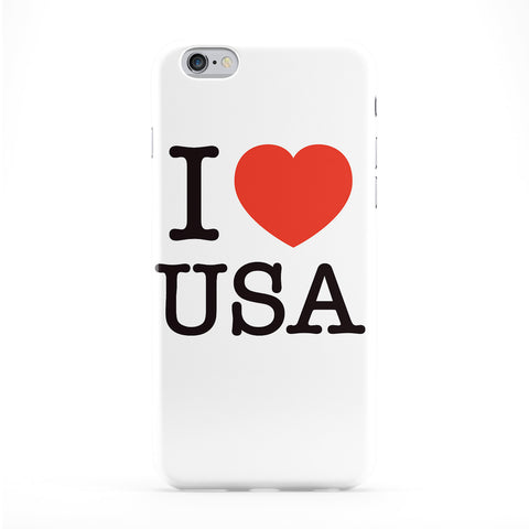 I Love USA Full Wrap Protective Phone Case by textGuy
