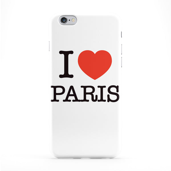 I Love Paris Full Wrap Protective Phone Case by textGuy