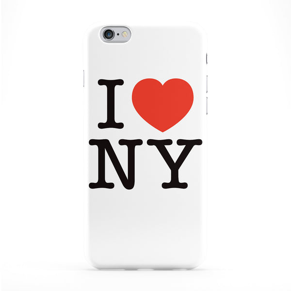 I Love NY Full Wrap Protective Phone Case by textGuy