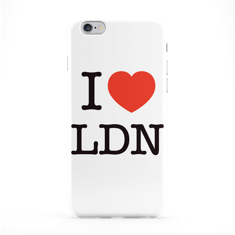 I Love London Full Wrap Protective Phone Case by textGuy
