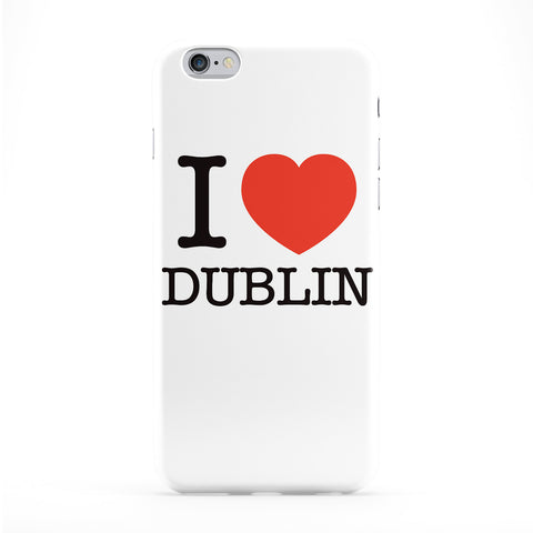 I Love Dublin Full Wrap Protective Phone Case by textGuy