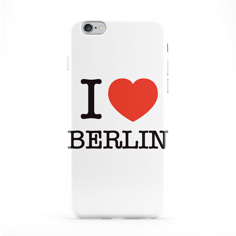 I Love Berlin Full Wrap Protective Phone Case by textGuy