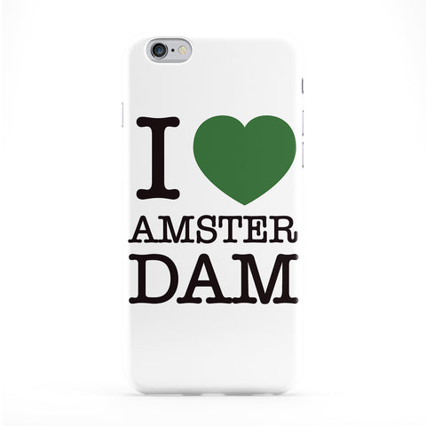 I Love Amsterdam Full Wrap Protective Phone Case by textGuy