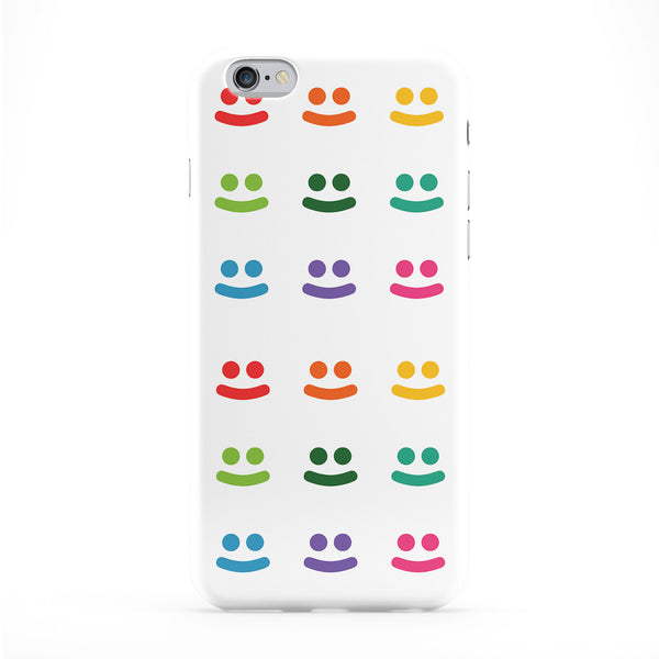 Happy Faces Full Wrap Protective Phone Case by textGuy