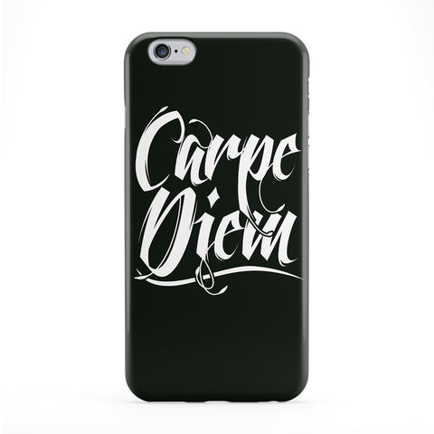 Carpe Diem Black Full Wrap Protective Phone Case by textGuy