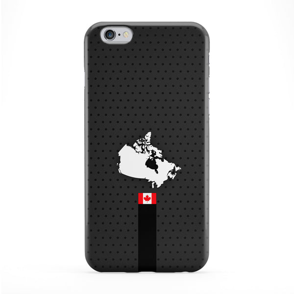 Elegant Canada Flag and Map on Dark Gray Canada Flag - Flag of Canada Full Wrap Protective Phone Case by UltraFlags