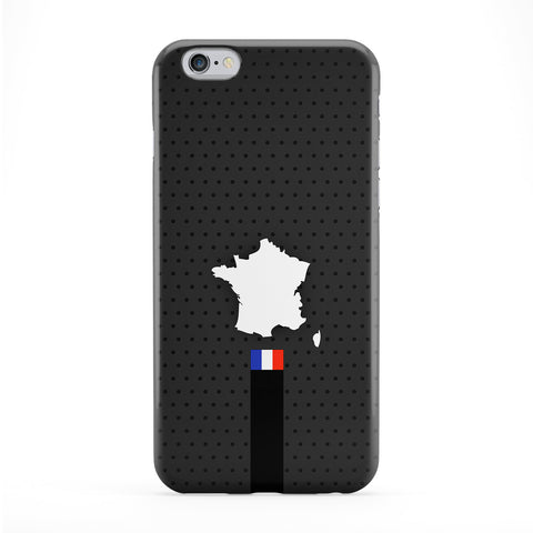 Elegant France Flag and Map on Dark Gray French Flag - Flag of France Phone Case by UltraFlags