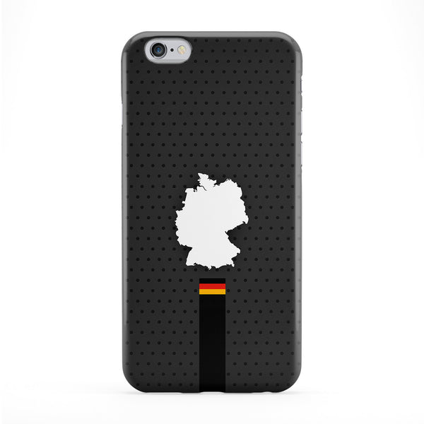Elegant Germany Flag and Map on Dark Gray German Flag - Deutsche Flagge - Flag of Deutschland Full Wrap Protective Phone Case by UltraFlags