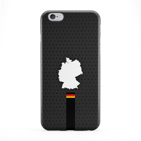 Elegant Germany Flag and Map on Dark Gray German Flag - Deutsche Flagge - Flag of Deutschland Phone Case by UltraFlags