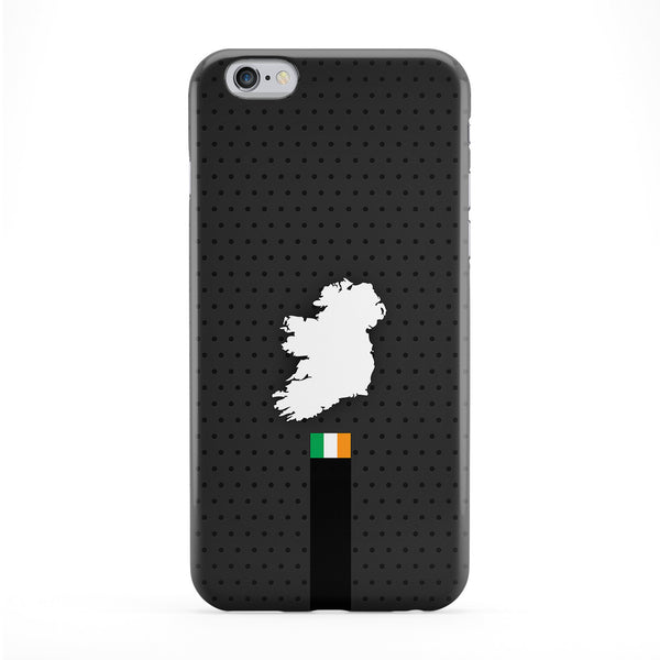 Elegant Ireland Flag and Map on Dark Gray Irish flag - flag of Ireland Full Wrap Protective Phone Case by UltraFlags