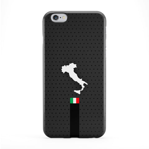 Elegant Italy Flag and Map on Dark GrayItalian Flag - Flag of Italy - bandiera d'Italia Phone Case by UltraFlags
