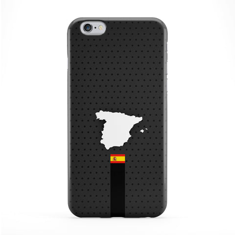 Elegant Spain Flag and Map on Dark Gray - Spanish Flag - Flag of Spain Phone Case by UltraFlags
