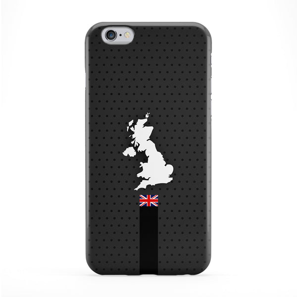 Elegant United Kingdom Flag and Map on Dark Gray UK Flag - Union Jack - Great Britain Flag Full Wrap Protective Phone Case by UltraFlags