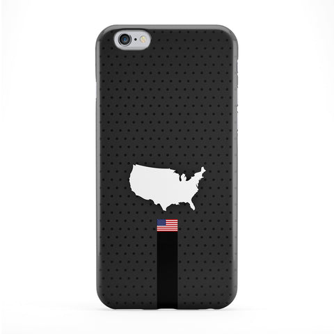 Elegant USA Flag and Map on Dark Gray - US Flag - American Flag - Flag of United States Phone Case by UltraFlags