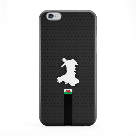Elegant Wales Flag and Map on Dark Gray - Welsh Dragon Flag - Welsh Baner Cymru Full Wrap Protective Phone Case by UltraFlags
