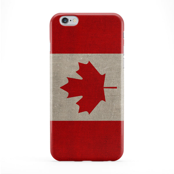 Canvas Flag of Canada - Canadian Flag Full Wrap Protective Phone Case by UltraFlags