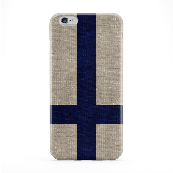 Canvas Flag of Finland - Finnish Flag - Suomen lippu - Finlands flagga Full Wrap Protective Phone Case by UltraFlags