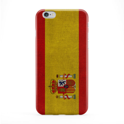 Canvas Flag of Spain - Spanish Flag - Bandera de Espana - la Rojigualda Full Wrap Protective Phone Case by UltraFlags