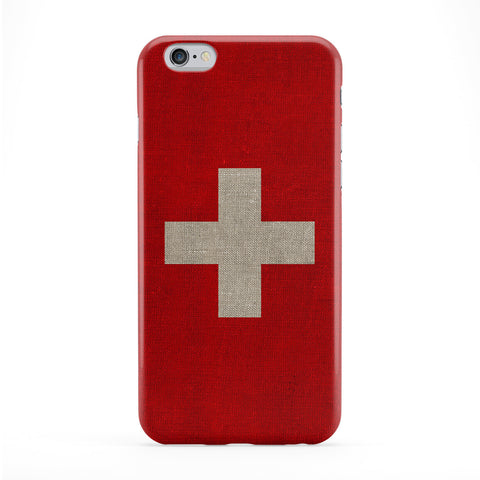 Canvas Flag of Switzerland - Swiss Flag Full Wrap Protective Phone Case by UltraFlags