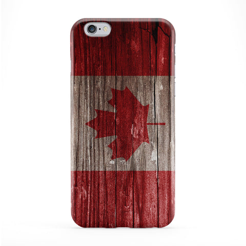 Vintage Wood Flag of Canada - Canadian Flag Phone Case by UltraFlags