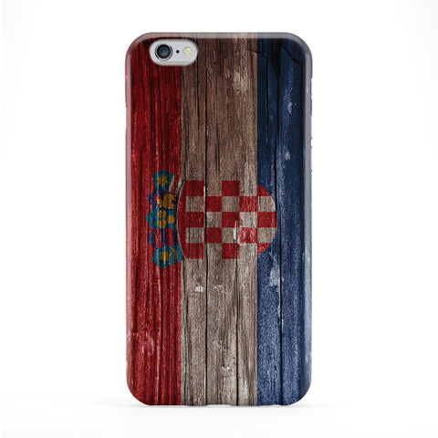 Vintage Wood Flag of Croatia - Croatian Flag Phone Case by UltraFlags