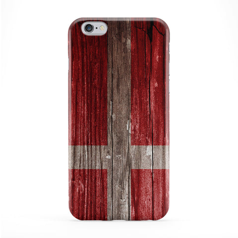 Vintage Wood Flag of Denmark - Danish Flag - Dannebrog Full Wrap Protective Phone Case by UltraFlags