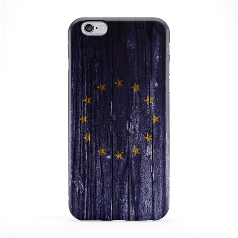 Vintage Wood Flag of European Union - Europe - EU Flag Phone Case by UltraFlags