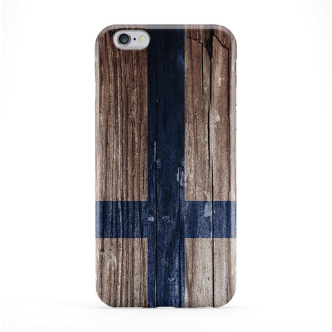 Vintage Wood Flag of Finland - Finnish Flag - Suomen lippu - Finlands flagga Phone Case by UltraFlags