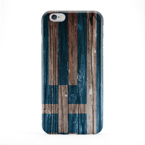 Vintage Wood Flag of Greece - I Galanolefki Phone Case by UltraFlags